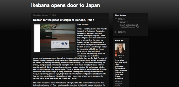 Ikebana opens door to Japan