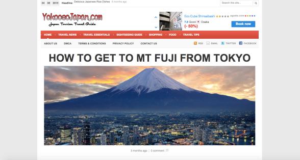 Japan Blog: Yokooso Japan